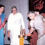 1st Stree Ratna Awardee Smt. Prerna Rao with Smt. Sheela Dixit and Smt. Veena Singh