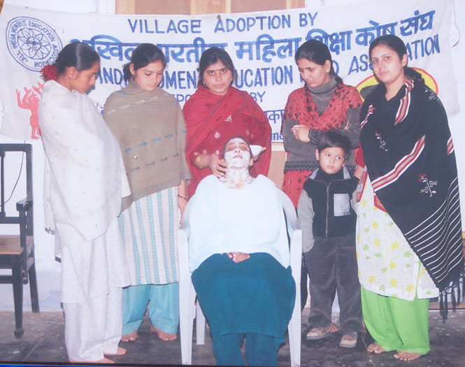 Beautician Class at Pataudi Village, Gurgaon