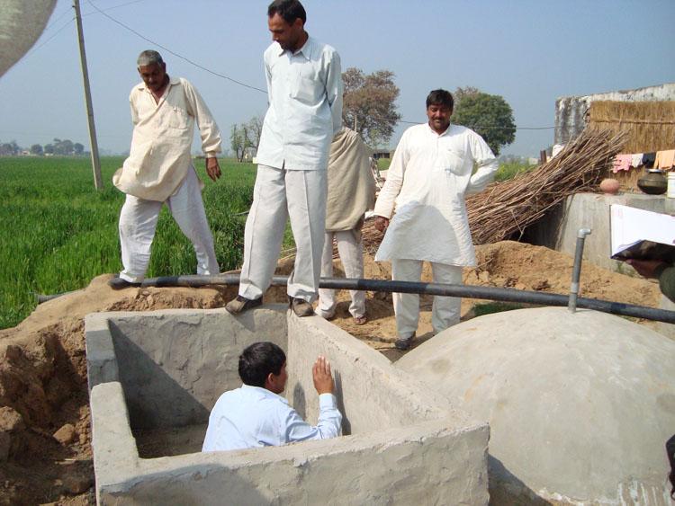 Bio Gas Plant under construction at Tripari