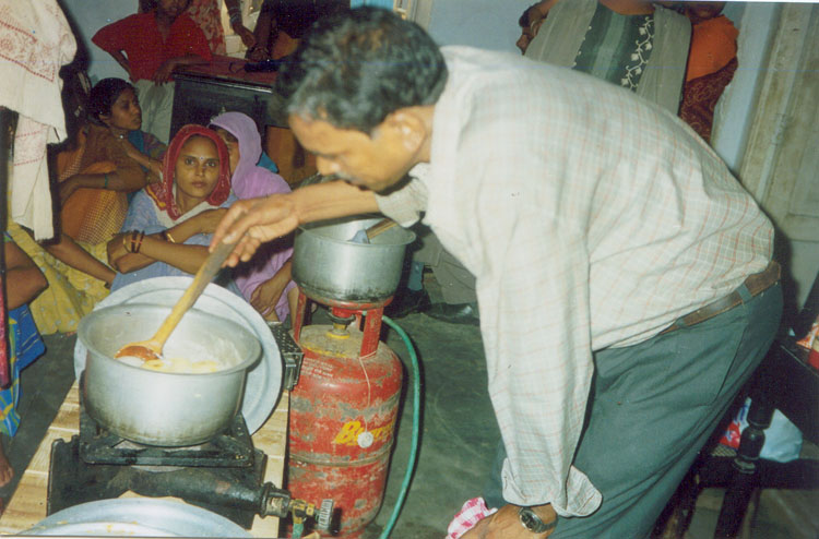 Cookery Demonstration at Nutrition Camp at Tripari Village