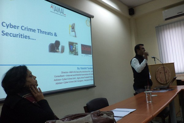 Cyber Crime Workshop at CPDHE, University of Delhi, Dec 2013