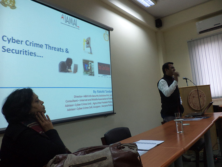 Cyber Crime Workshop at CPDHE, University of Delhi, Dec 2013