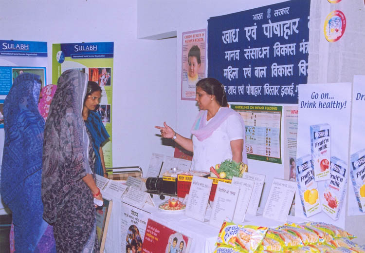 Exhibits by Food & Nutrition Board at IIC, New Delhi