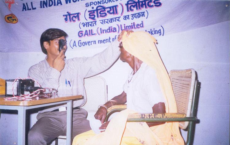 Eye Examination in Health Camp at Tripari Village