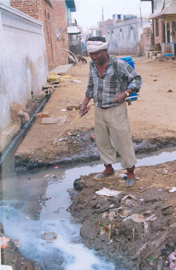 Insecticidal Sprays  to check mosquitoes at Tripari Village