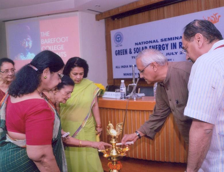 Lamp Lighting at National Seminar - 'Green and Solar Energy in Rural Areas' held at IIC, Delhi in July, 2012