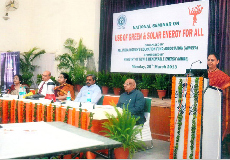Speakers at National Seminar - 'Green and Solar Energy for All' in March 2013 at LIC