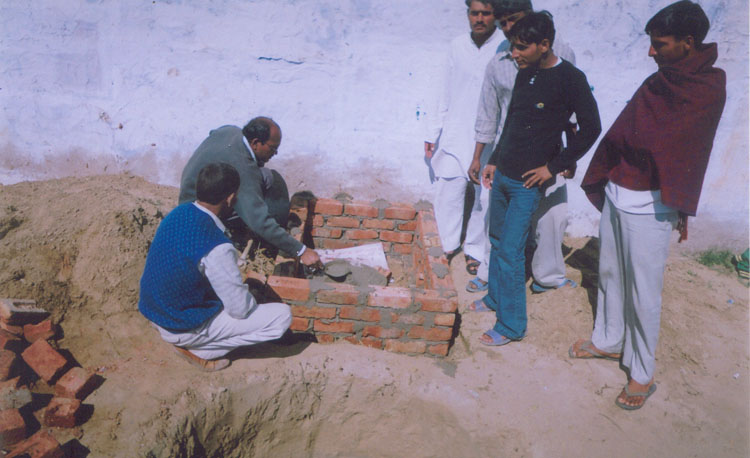 Sulabh Toilet under construction at Tripari Village
