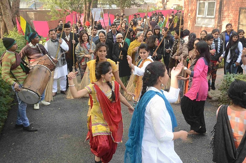 Participants at the Swachh Lohri Celebrations