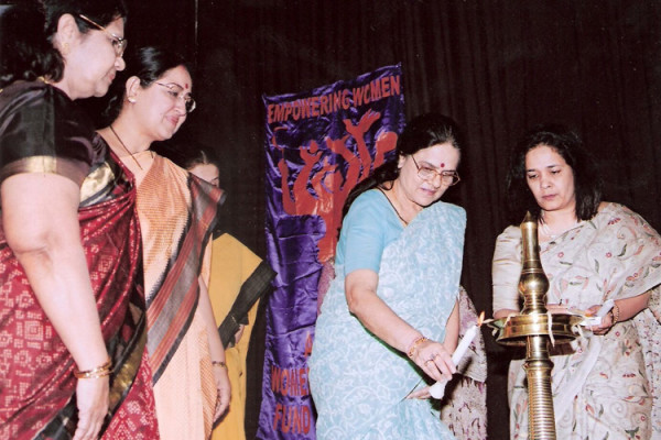 The lighting of lamp at Platinum Jubilee Celebrations
