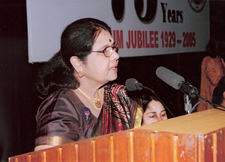 Welcome address by Dr. Sarala Gopalan, President AIWEFA