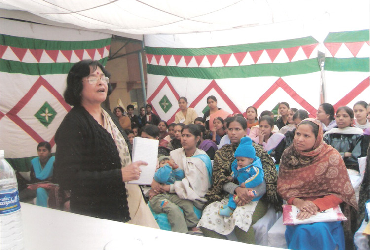 "Workshop on ""Violence Against Women and HIV/AIDS"" at GRC Center, Geeta Colony, Delhi"