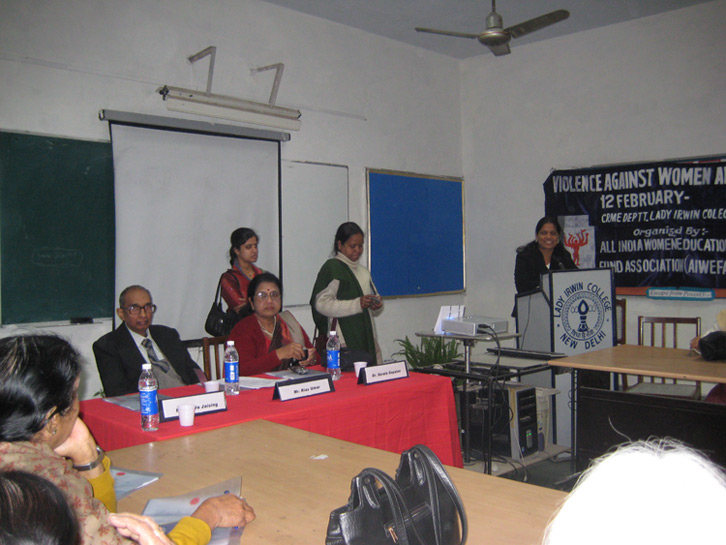 "Workshop on ""Violence against women and HIV/AIDS"" at Lady Irwin College, New Delhi"