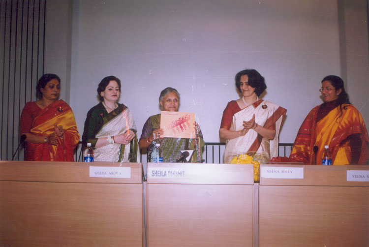 Release of NGO's Directory by Smt. Sheila Dikshit