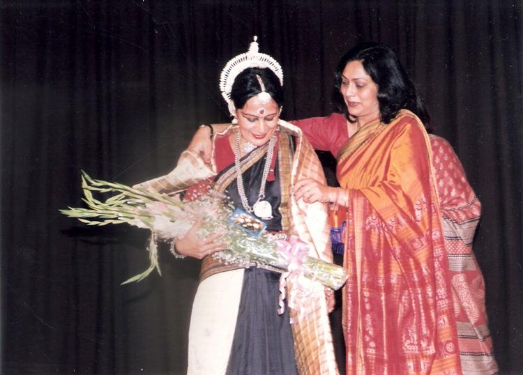 Danseuse Sonal Mansingh with former AIWEFA President Ms. Rajini Sen