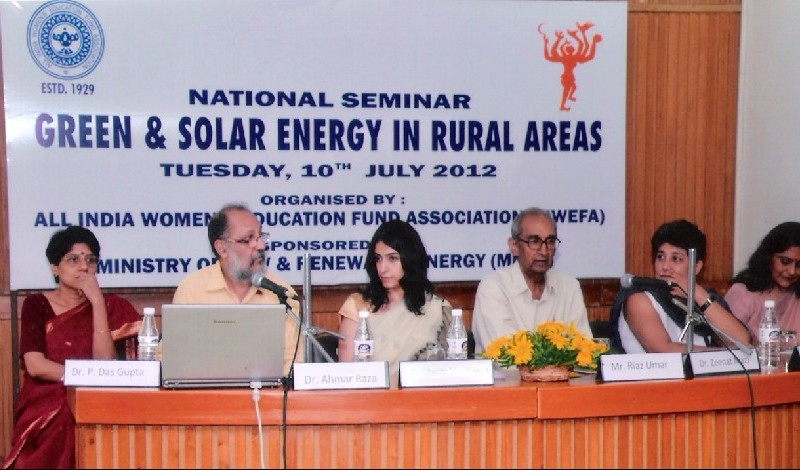 National Seminar on Green and Solar Energy in rural areas, 2012