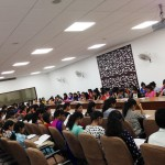 Student- audience at the workshop at Mata Sundri College