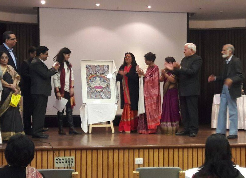 Unveiling the art work on Women Empowerment