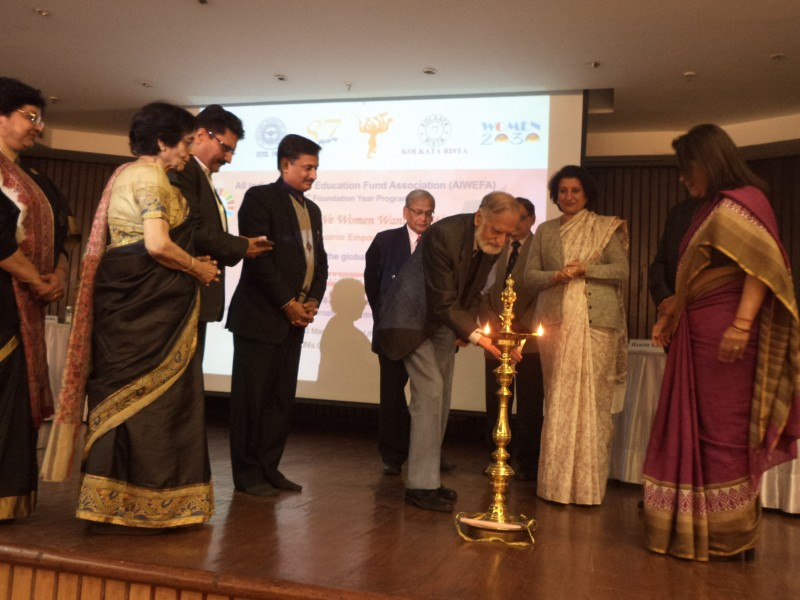 Lamp lighting at the launch of AW#4  website.