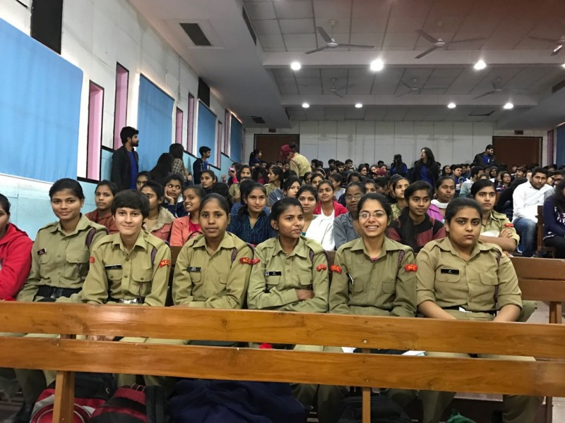 """Audience at the workshop on on """" Promoting Intergenerational Bonding"""" at Shivjaji College -2017"""